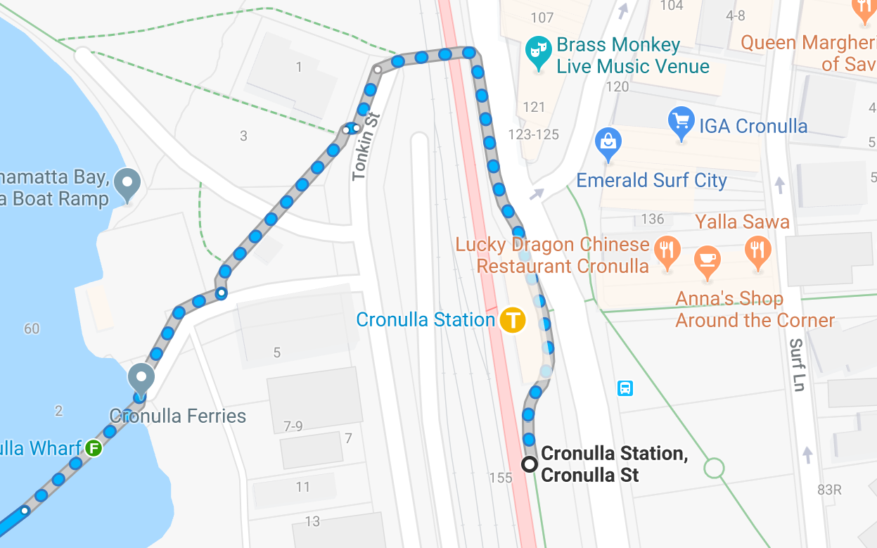 Directions from Cronulla Station to Bundeena Ferry